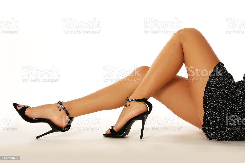 Beautiful long and sexy legs royalty-free stock photo