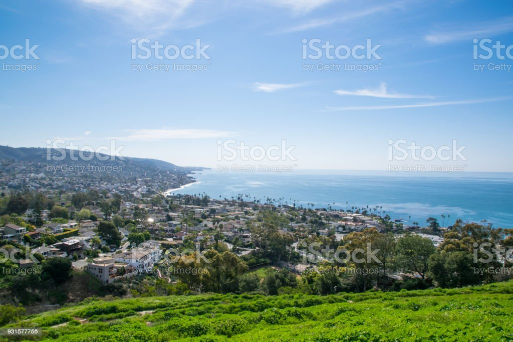 Beautiful Lush Laguna Beach, California stock photo