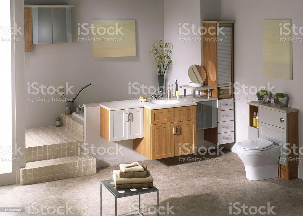 Beautiful luxurious bathroom royalty-free stock photo