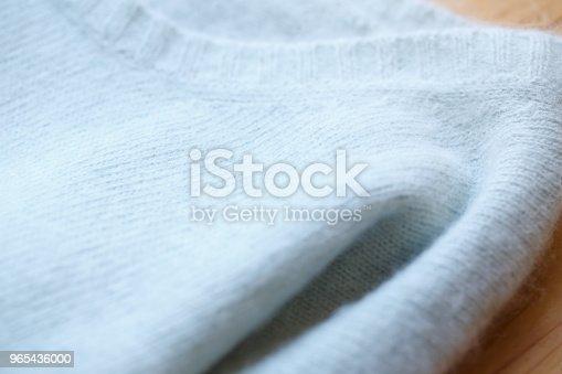 Beautiful Luxurious Knitted Sweater In Light Blue Autumn Winter Warm - Stockowe zdjęcia i więcej obrazów Ciepła odzież