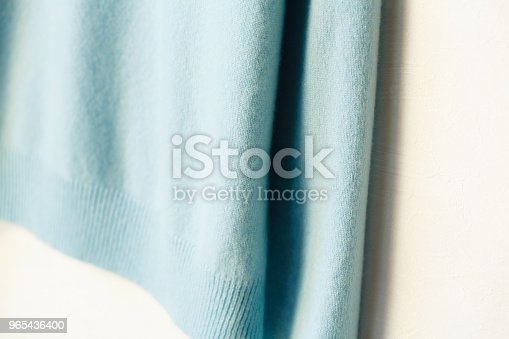 Beautiful Luxurious Knitted Sweater In Light Blue Autumn Winter Warm Stock Photo & More Pictures of Angora Wool