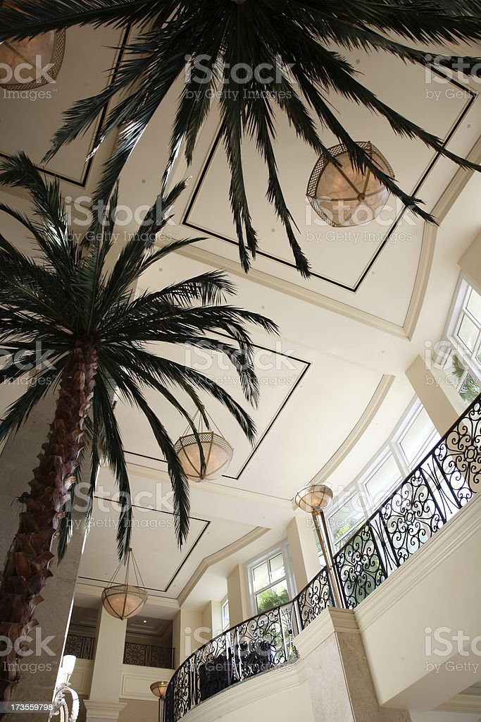 Beautiful Luxury Hotel Lobby royalty-free stock photo