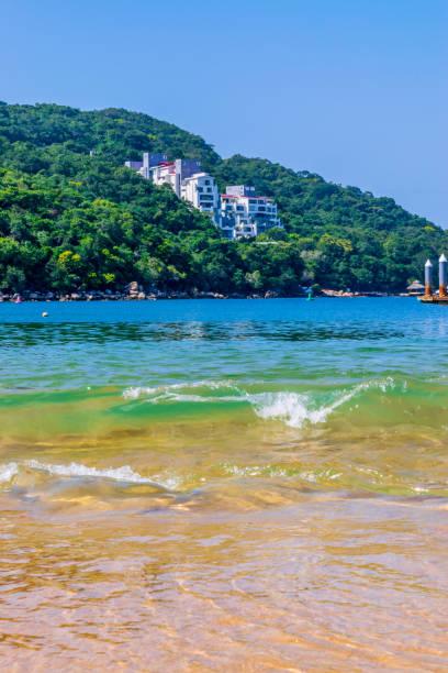 Beautiful Majahua's beach in Acapulco stock photo