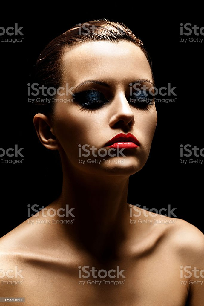 beautiful makeup royalty-free stock photo