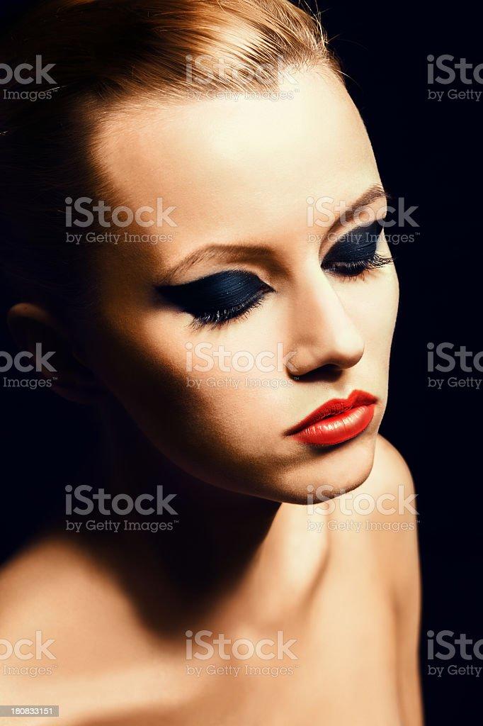 beautiful makeup royalty-free stock photo