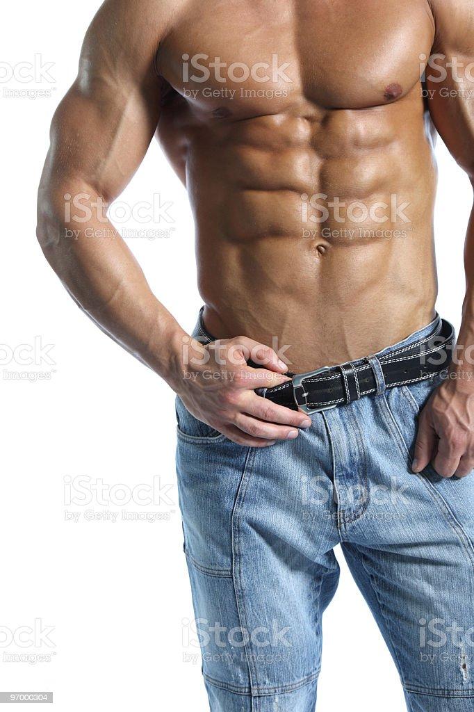 Beautiful male body royalty-free stock photo