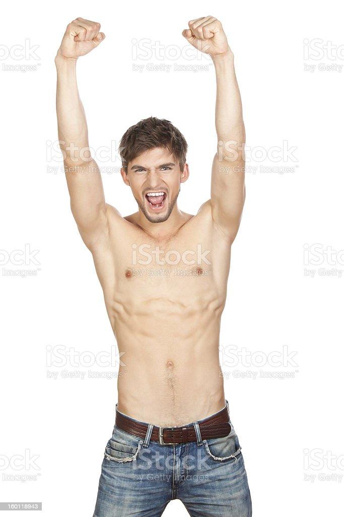 beautiful man naked torso royalty-free stock photo