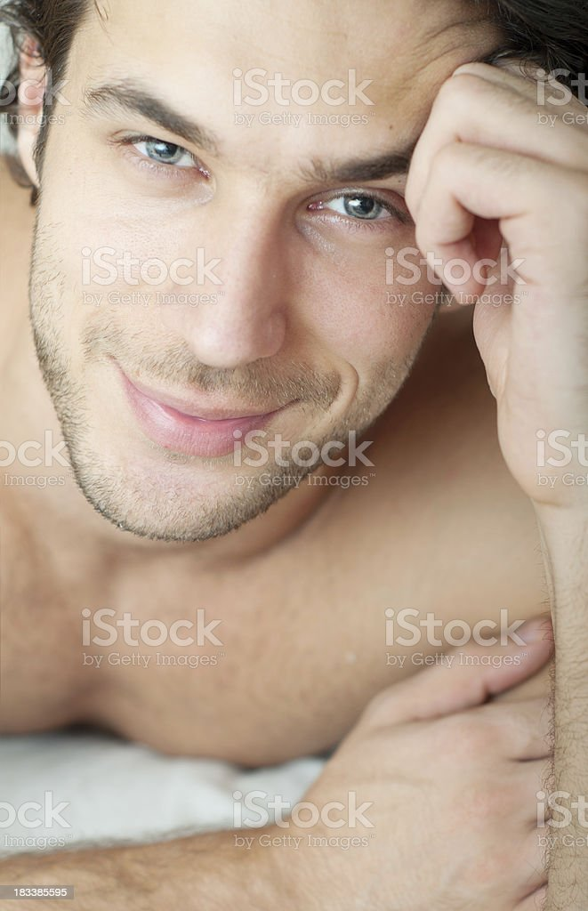 beautiful man stock photo