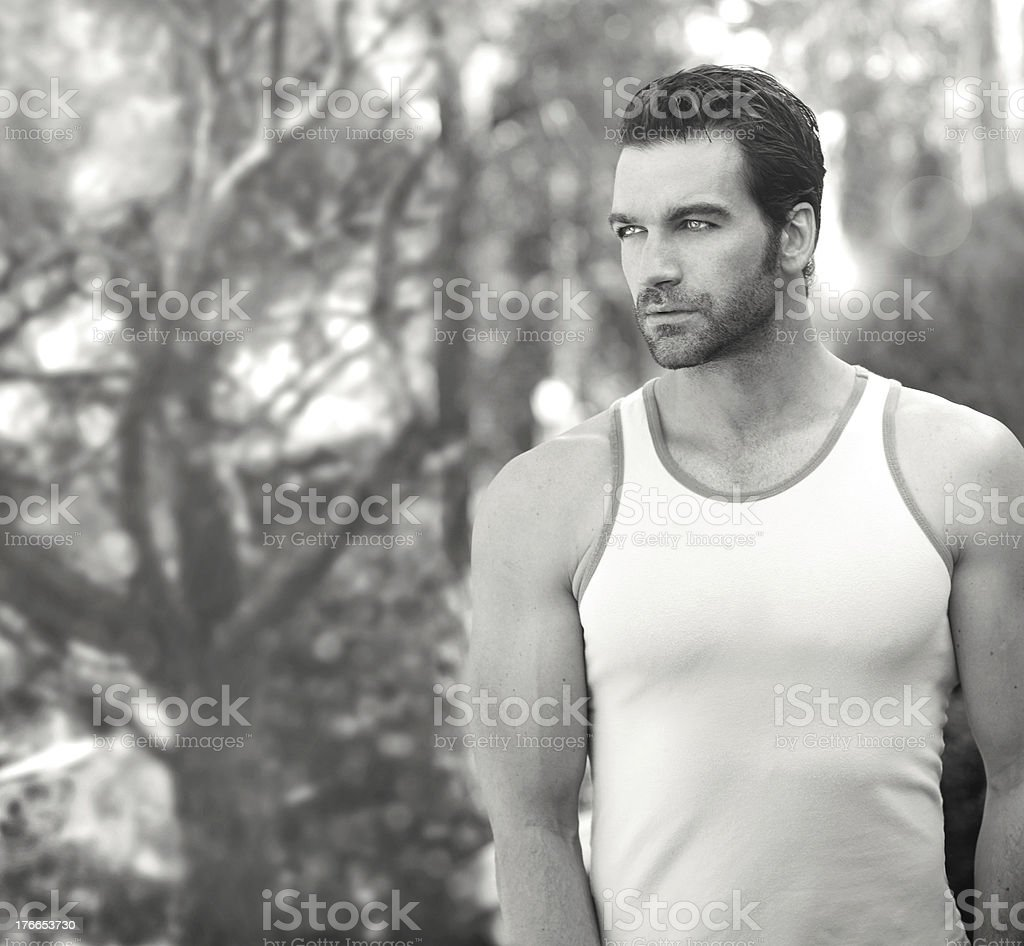 Beautiful man standing royalty-free stock photo