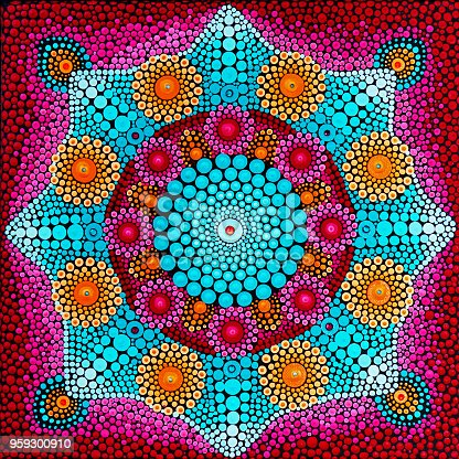 istock Beautiful mandala hand painted 959300910