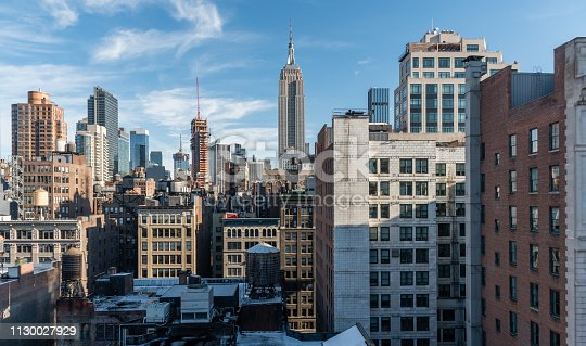 Beautiful Manhattan skyline vista in winter