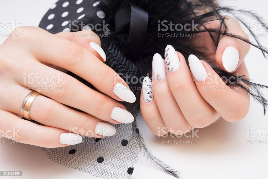 Beautiful Manicure And Nail Art Natural Nails And Gel Polish Stock ...