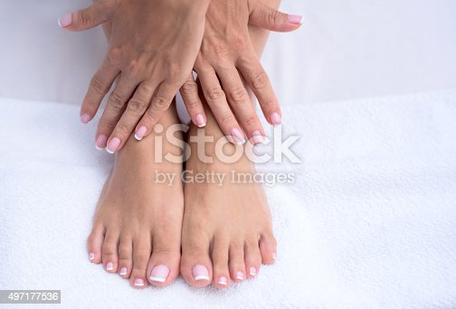 istock Beautiful manicure and pedicure 497177536