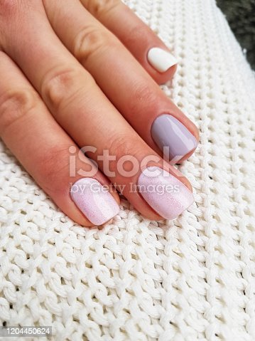 1147741037 istock photo Beautiful manicure on female hand 1204450624