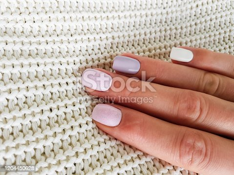1147741037 istock photo Beautiful manicure on female hand 1204450628