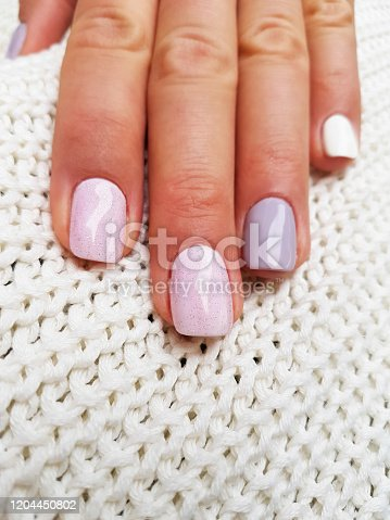 1147741037 istock photo Beautiful manicure on female hand 1204450802