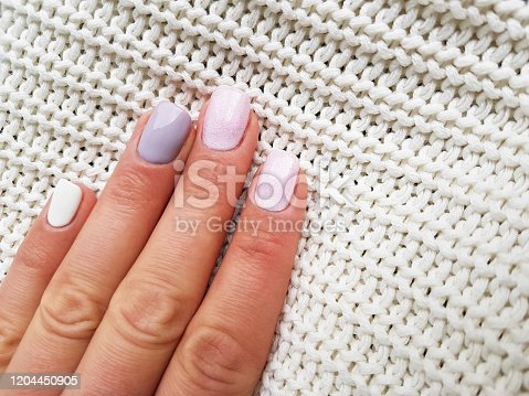 1147741037 istock photo Beautiful manicure on female hand 1204450905
