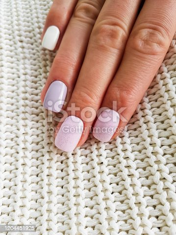 1147741037 istock photo Beautiful manicure on female hand 1204451925