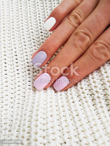 1147741037 istock photo Beautiful manicure on female hand 1204452092