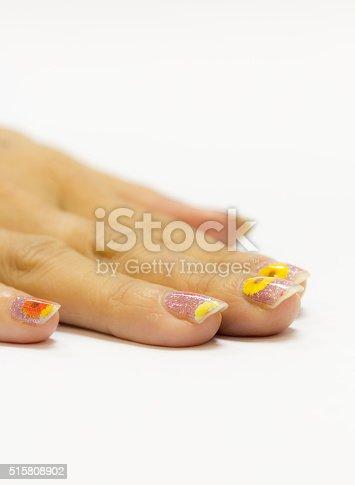 istock Beautiful manicured woman's nails 515808902