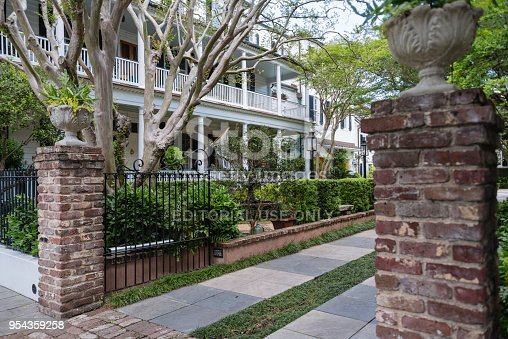 Beautiful historic home in the historic downtown of Charleston, South Carolina.