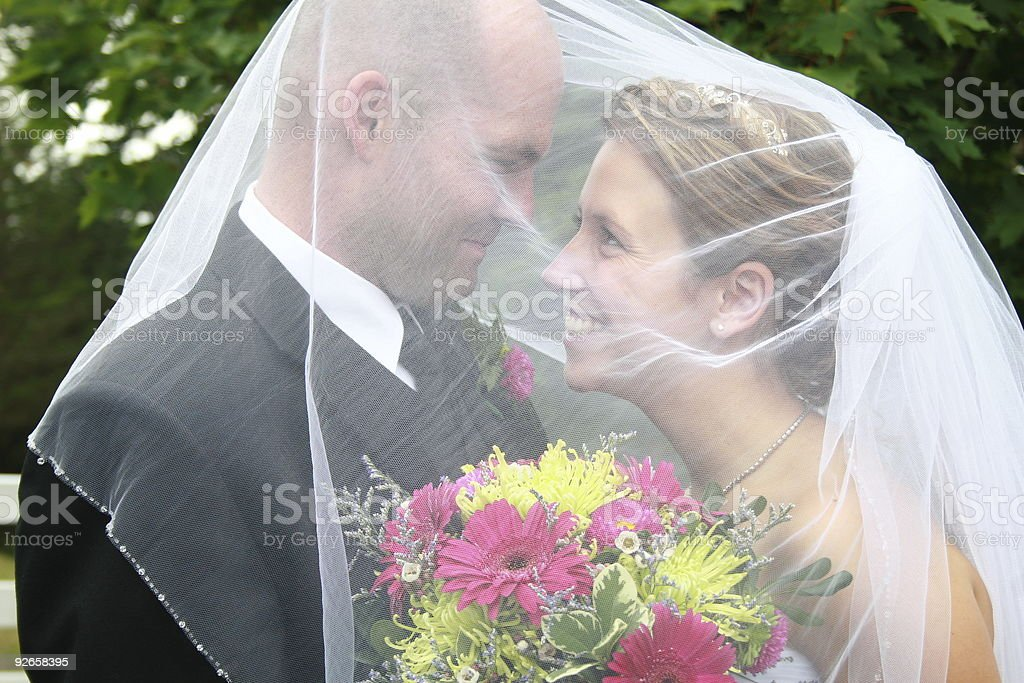 Beautiful married couple royalty-free stock photo