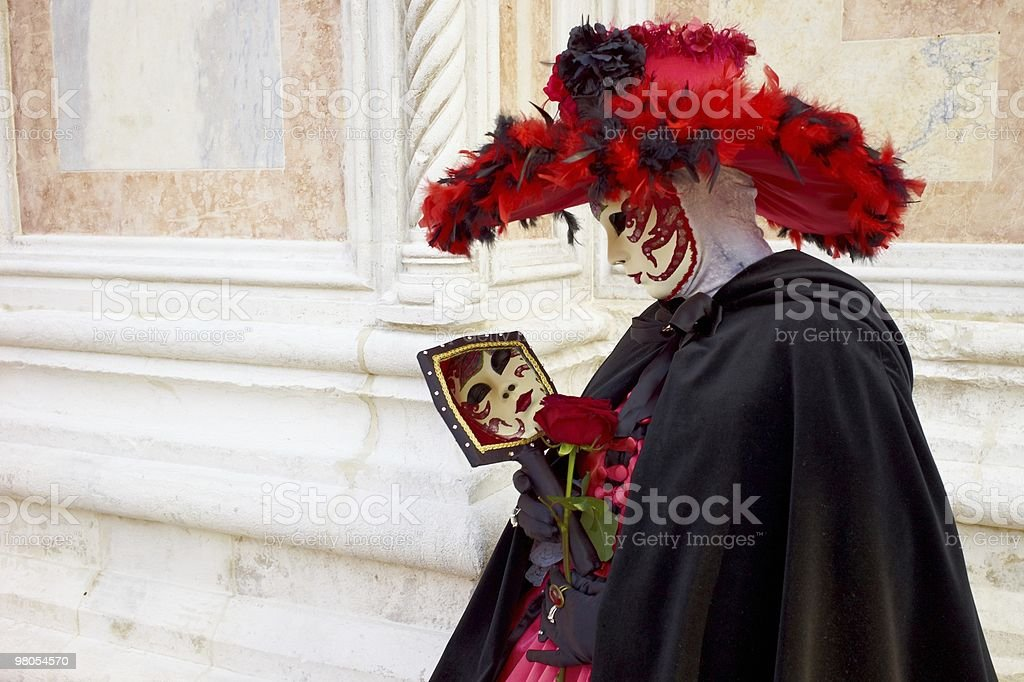 Beautiful mask in Venice carnival royalty-free stock photo