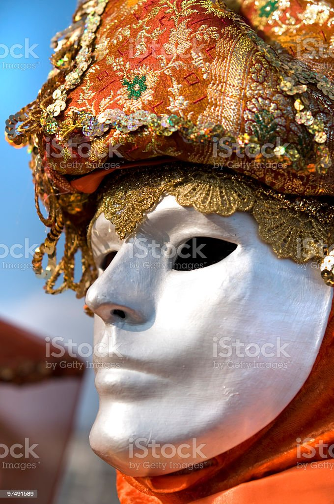 Beautiful mask royalty-free stock photo
