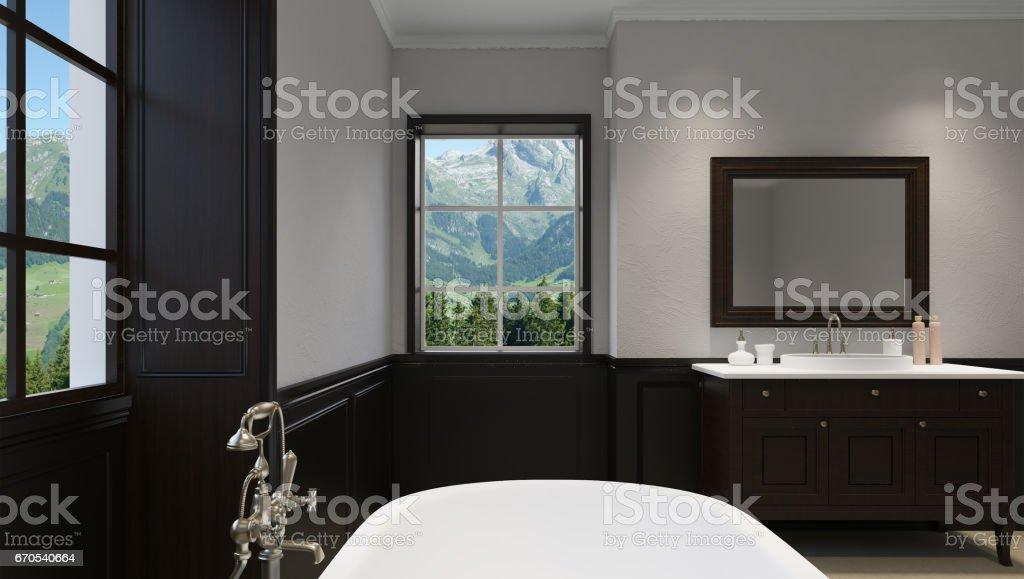 Schone Masterbad Mit Dusche 3drendering Stockfoto Und Mehr