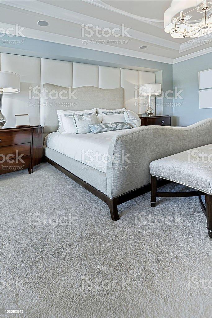 beautiful master bedroom interior royalty-free stock photo