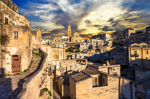 Beautiful Matera,Italy Ancient Cave City in Basilicata matera italy stock pictures, royalty-free photos & images