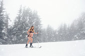 Beautiful Maternity Portrait In Winter