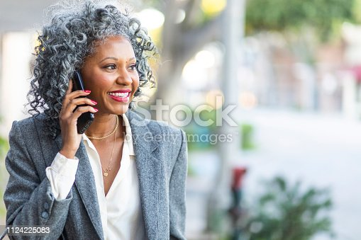 An attractive black businesswoman on the town
