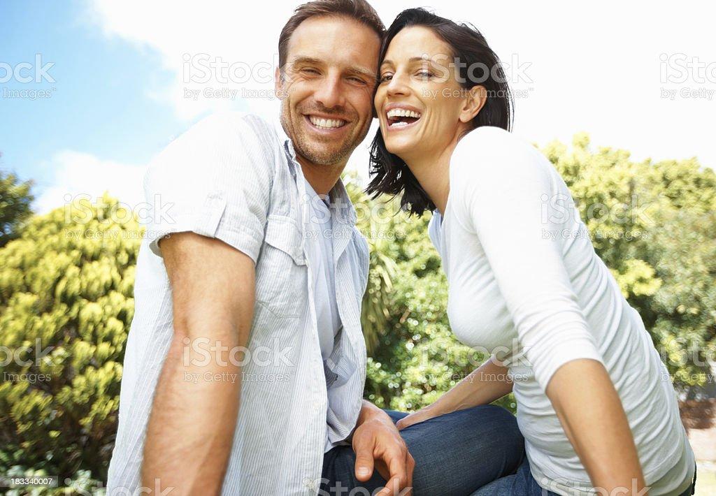 Beautiful mature couple royalty-free stock photo