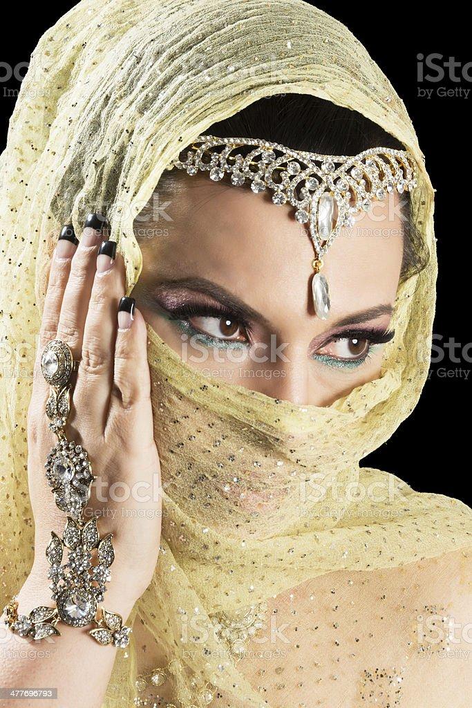 Schone Reife Frau Im Arabischen Stil Hochzeit Schmuck Stock