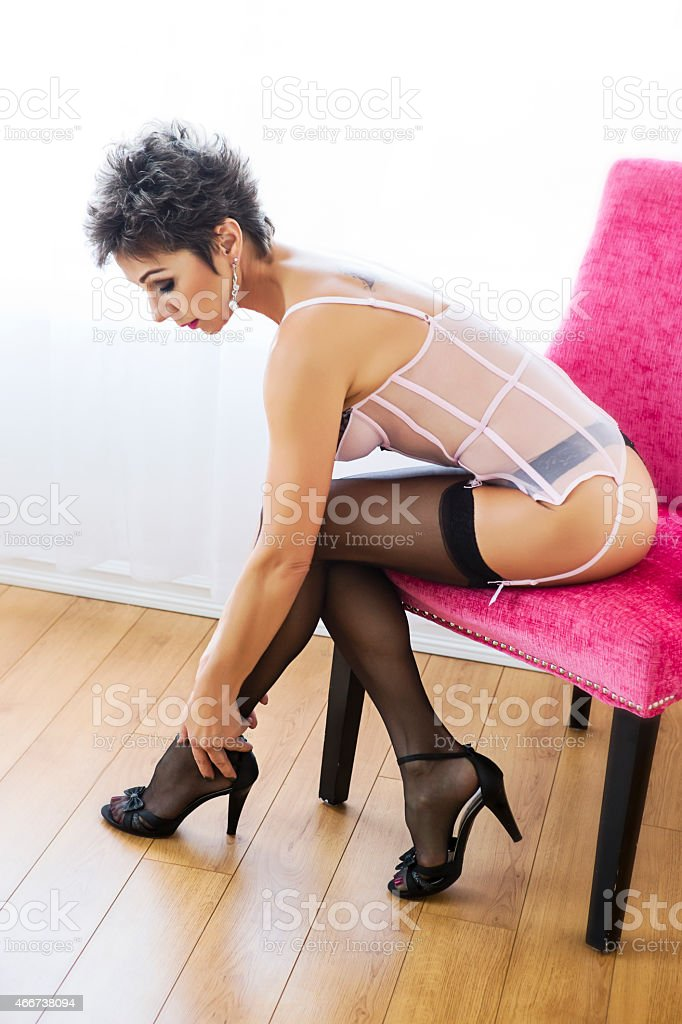 Sexy Mature Women Stocking