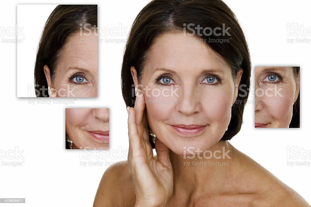 Beautiful mature woman stock photo