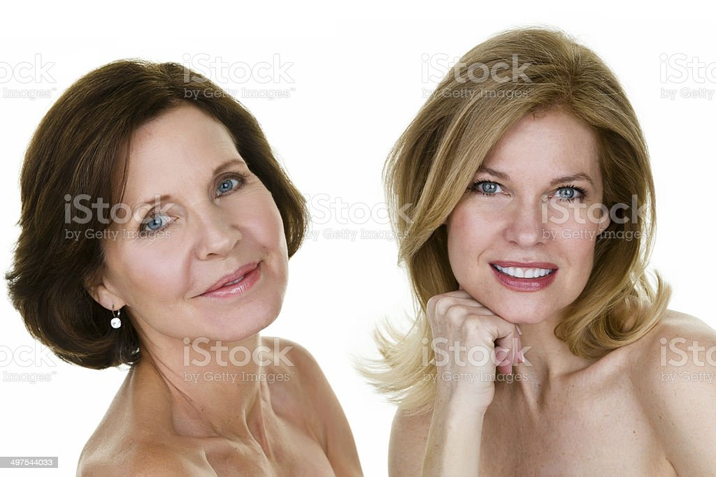 Beautiful Mature Women Stock Photo