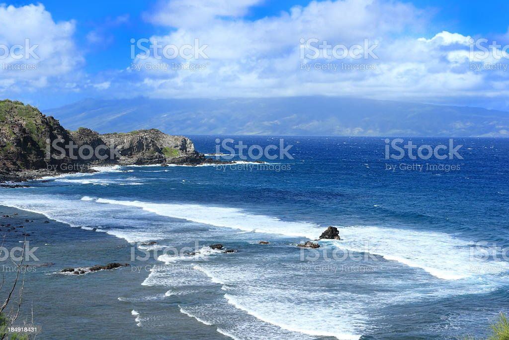 Beautiful Maui beach stock photo