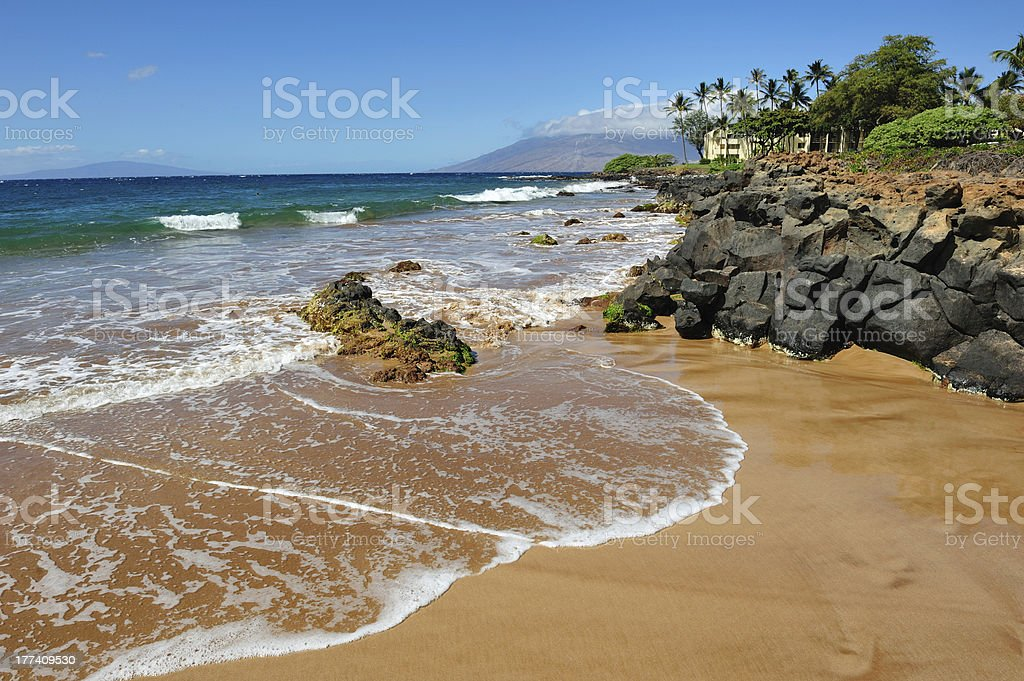 Beautiful Maui Beach Scene stock photo
