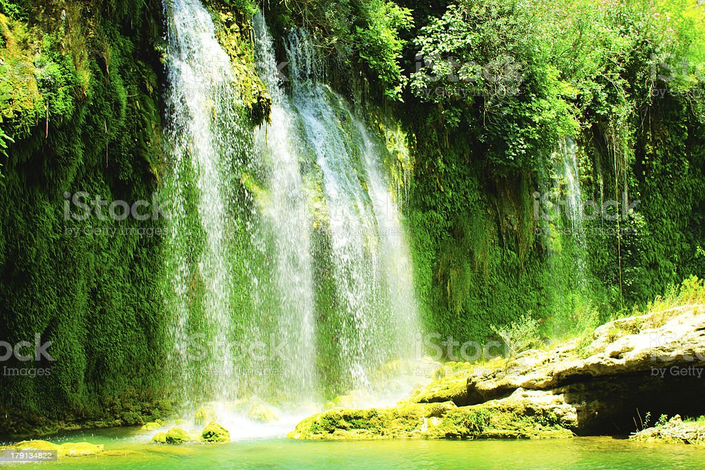 Beautiful Maui Hawaii Waterfall royalty-free stock photo