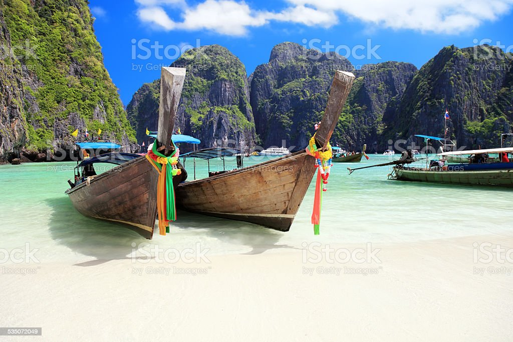 Beautiful Maya Bay stock photo