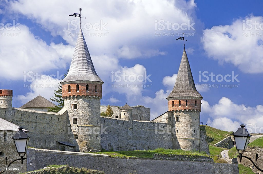 Beautiful medieval castle in Ukraine royalty-free stock photo