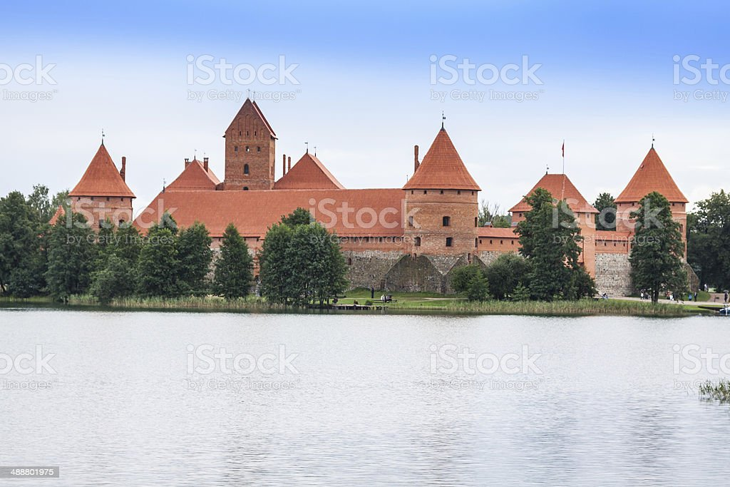 Beautiful Medieval Trakai Castle in an Island in the Lake royalty-free stock photo