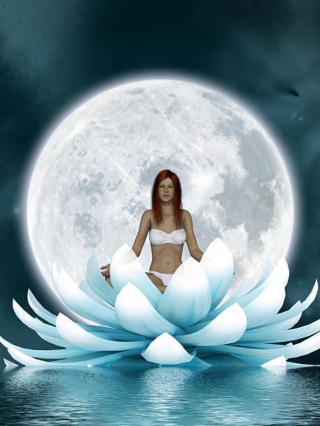 Beautiful meditation stock photo