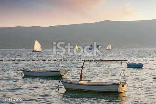 istock Beautiful Mediterranean landscape. Montenegro, Bay of Kotor near Tivat city 1144417920