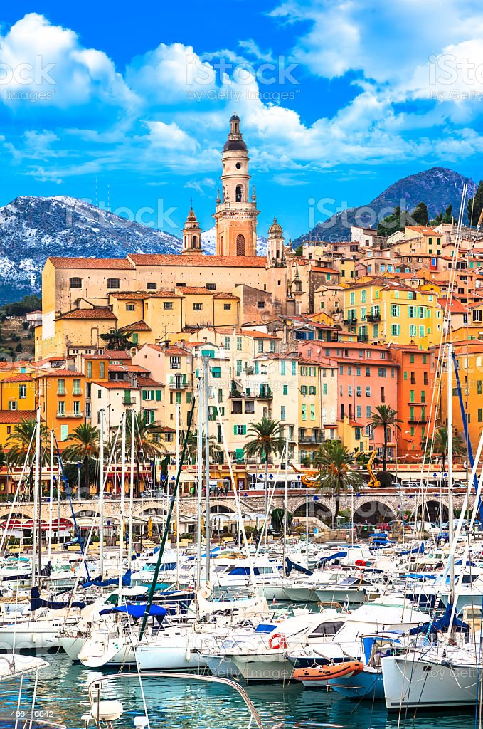 Beautiful Menton stock photo