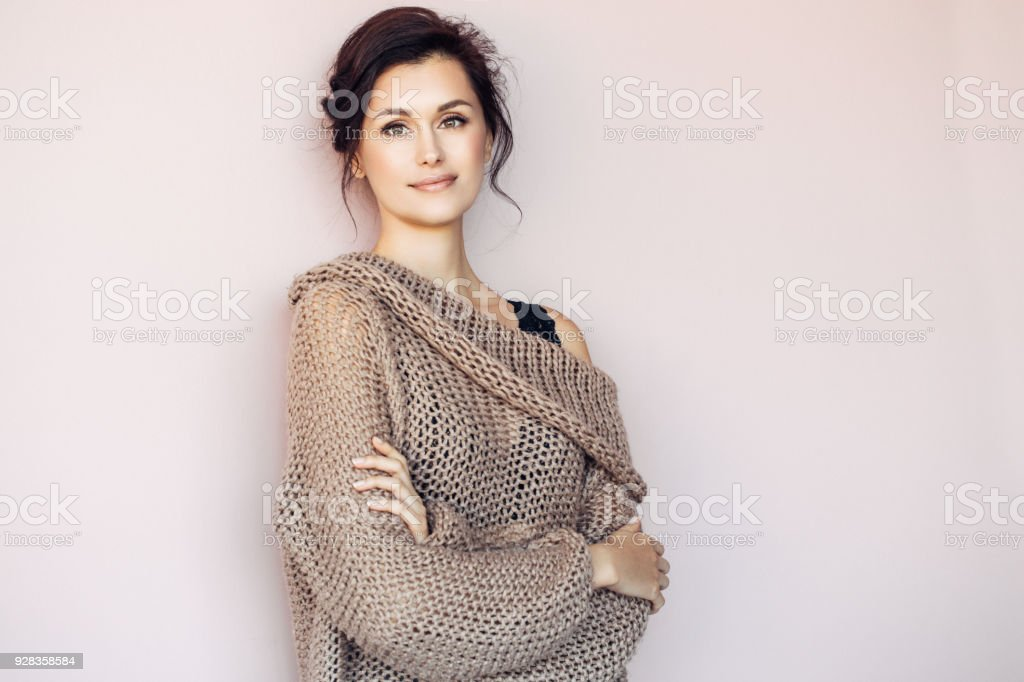 Beautiful mid adult woman stock photo