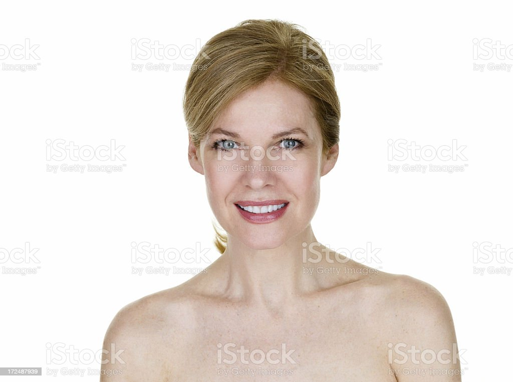 Beautiful middle age woman royalty-free stock photo