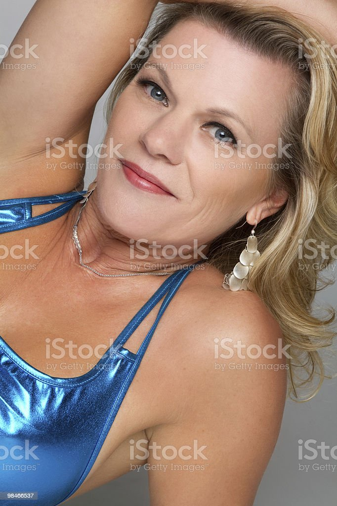 Beautiful Middle Aged Woman royalty-free stock photo